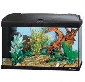 Ferplast CAPRI 60 LED - аквариум с пълно оборудване 60л. , черен, 60x31.5x39.5 см.