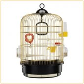 Ferplast Regina Brass - клетка за птици Ф 32,5 x H 48,5 см