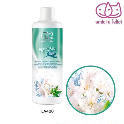 Препарат за почистване и дезинфекциране с аромат на бял мускус, 1л.