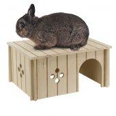 Ferplast SIN 4646 - Дървена къща за заек, 33x23.6x16см