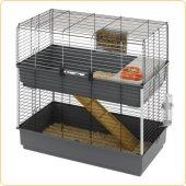 Клетка за зайци Ferplast Rabbit 100 Double Black, 99х51.5х97.5 см
