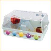Клетка за хамстери Mini Duna Hamster Decor, оборудвана, 55х39х27см