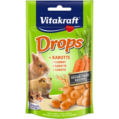 Vitakraft Drops Carrot, 75гр - бонбони с моркови за гризачи