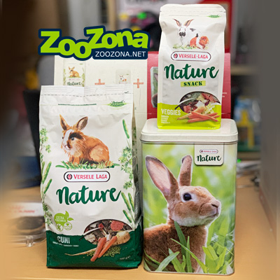 Gift Box Nature Cuni - Храна за заек 700гр с лакомство, с кутия подарък