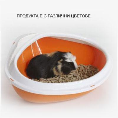 Savic Тоалетна за дребни гризачи с борд, 36х26.5х15.5см