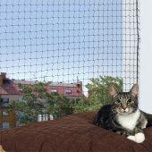 Trixie Предпазна мрежа за котки 4 x 3 метра, черна
