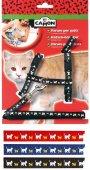Camon Комплект със щампа котета, нагръдник и повод за котки