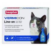 Beaphar Vermicon Line Cat - 3 пипети за котки