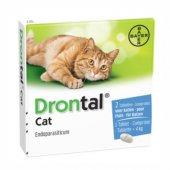 Bayer Drontal Cat - обезпаразитяващи таблетки за котки, 2 таблетки