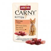 Animonda Carny Kitten, пауч - говеждо, телешко и пиле