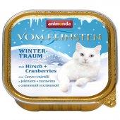 Animonda Cat Vom Feinsten Winter, елен и боровинки, 100гр