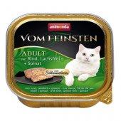 Von Feinsten Cat 2 в 1- пастет с хапки, говеждо, сьомга и спанак