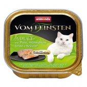 Von Feinsten Cat 2 в 1- пастет с хапки, пуйка, пилешки гърди и билки