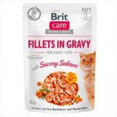 Brit Care Cat SAVORY SALMON in Gravy - пауч със сьомга в сос