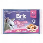 КОТКИ |  | Brit Premium Cat Pouch Dinner Plate Jelly, паучове в желе, 4x85гр