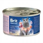 Brit Premium Cat Пастет с пиле и сърца, консерва