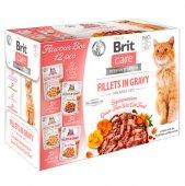 Brit Care Cat Fillets in Gravy FLAVOUR BOX - 12 пауча x 85 гр