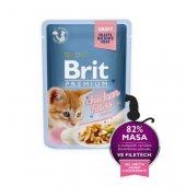 Brit Premium Cat Kitten, пауч 85гр за малки котенца - пилешки филенца в сос