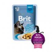 Brit Premium Cat Adult, пауч 85гр - пилешки филенца в сос