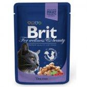КОТКИ   Храна за котки   Brit Premium Adult Cat - пауч с риба треска, 100 гр
