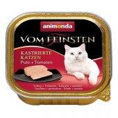 Vom Feinsten за кастрирани котки с пуйка и домати