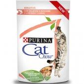 Cat Chow Sensitive - пауч за чувствителен стомах със сьомга и тиква