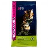 Eukanuba Cat Adult Hairball & Indoor, подпомага преработката на космените топки