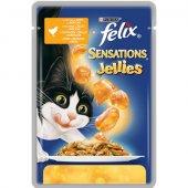 Felix Sensations Пауч, 100 гр - Пиле и Моркови с Ароматно Желе