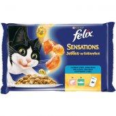 Felix Sensations 4 пауча x 100 гр - Риба с Ароматно Желе