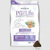 Flatazor Cat PureLife Sterilized 8+, патица и бяла риба, без зърнени