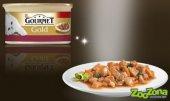 КОТКИ | Храна за котки | Gourmet Gold Хапки в Сос с Пиле и Черен дроб - консерва
