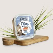 Happy Cat Duo - хапки с пастет с говеждо месо и риба треска, 100 гр