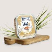 Happy Cat Duo - хапки с пастет с говеждо и заешко месо, 100 гр