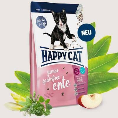 Happy Cat Junior Grainfree Ente - без зърнени съставки, с патешко