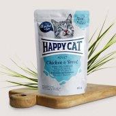 Happy Cat пауч в сос, 85гр - пиле и пъстърва