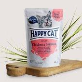 Happy Cat пауч в сос, 85гр - пиле и сьомга