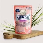 Happy Cat пауч месо Kitten, 85гр - пиле и морска сьомга