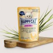 Happy Cat пауч месо Kitten, 85гр - пиле и патица