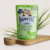 Happy Cat пауч месо Adult, 85гр - телешко и агнешко