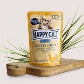 Happy Cat пауч месо Adult, 85гр - пиле и патица
