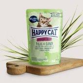 Happy Cat пауч месо Sterilised, 85гр - телешко и агнешко