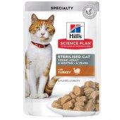 Hills Cat Young Adult Sterilised TURKEY - 12 пауча с пуешко за кастрирани