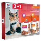 Hills Промо пакет паучове 3+1 за котки Science Plan Adult, 4 бр пауч