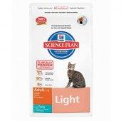 Hills SP Feline Adult Light Tuna - контрол на теглото