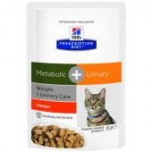 Hills Feline Metabolic and Urinary пауч - 85 гр
