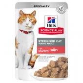 Hills Cat Young Adult Sterilised SALMON - 12 пауча със сьомга за кастрирани