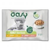 Oasy Cat Bocconcini Adult Sterilized - за кастрирани котки, пауч 4x85гр