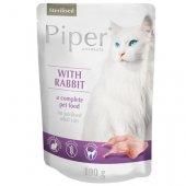 Piper Cat Sterilised пауч без зърно, заешко - за кастрирани котки