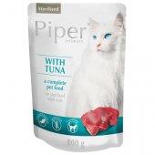 Piper Cat Sterilised пауч без зърно, риба тон - за кастрирани котки