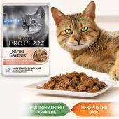 КОТКИ | Храна за котки | Pro Plan Housecat, пауч, 85 гр - хапки в сос със Сьомга